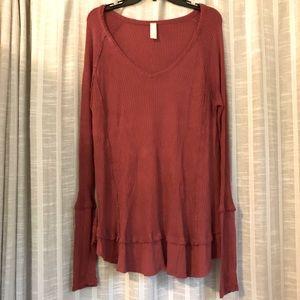 Altard State Women's Burgundy Knot Sweater